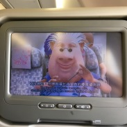 Even the safety video showed the guy in the HK plane